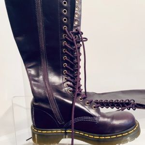 Doc Marten Purple knee high boots (like new)